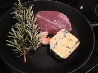 Torbjörns lammrostbiff med gorgonzolasås