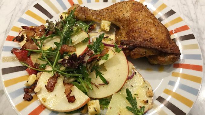 Kycklingklubba med ost & äppelsallad -lättlagat och fräscht