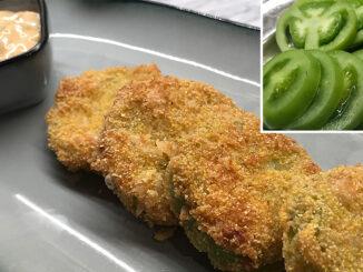 Stekta gröna tomater-mat med filmreferens