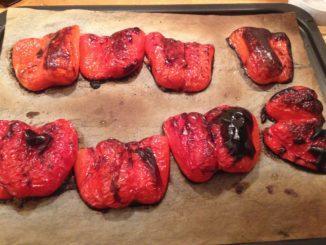 Rostad eller grillad röd paprika