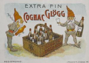 Gammal cognacglögg-etikett