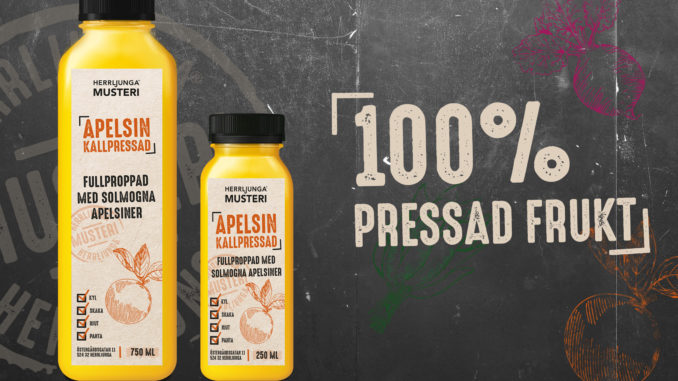 Herrljunga Musteri lanserar kallpressad juice