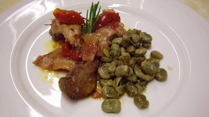 Kanin med pancetta och bonbönor