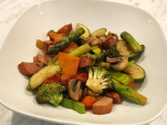 Använd resterna -Korv & grönsakspytt