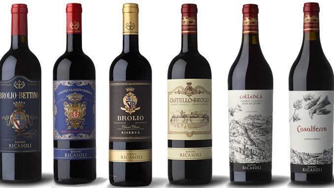Vinprovning på Enoteca de Castello Brolio