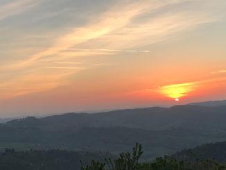 Solnedgång i Lamole