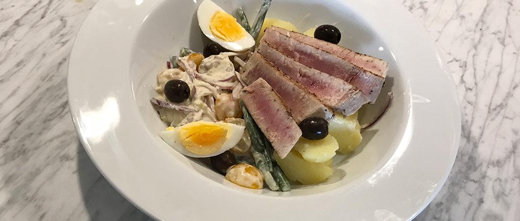 Halstrad tonfisk med sardellkräm -Medelhavsmat i min smak