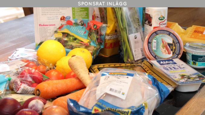 Ekologisk matkasse från CityGross med svensk kyckling samt alltid färska grönsaker och rotfrukter.
