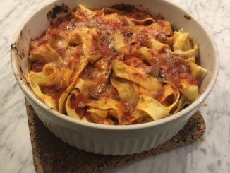 Pappardelle al Forno -enkelt, snabbt och gott