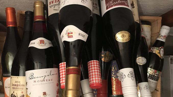 Beaujolais Nouveau i vinkällaren