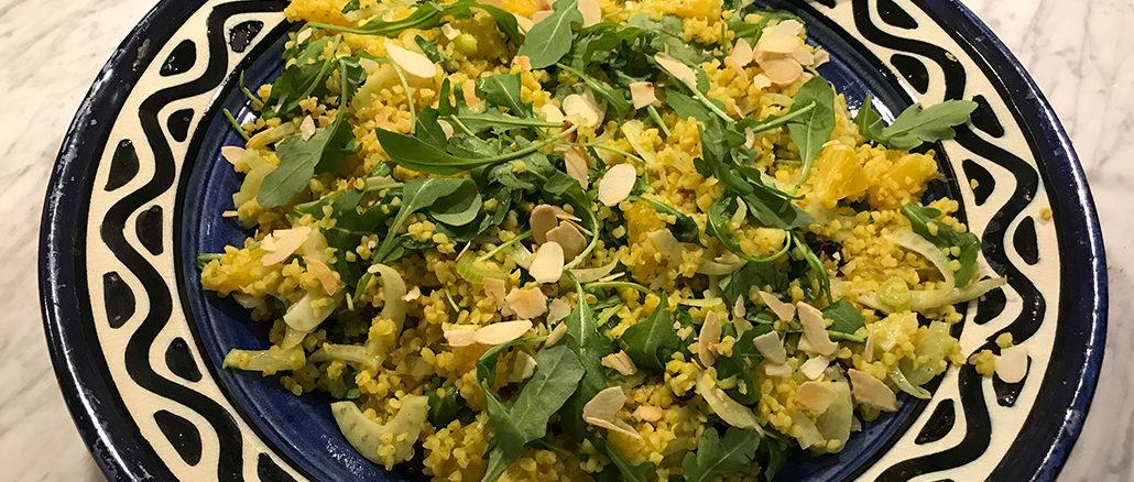 Bulgursallad med kanelröra -Fräscht och vegetariskt
