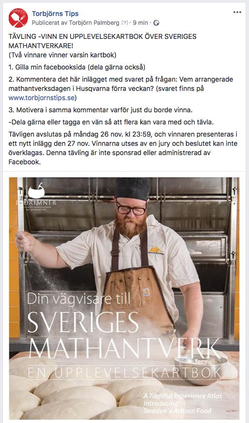 Tävling -Vinn en upplevelsekartbok över Sveriges mathantverkare