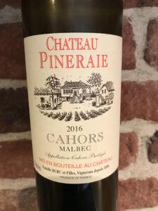 Château Pineraie Malbec -front