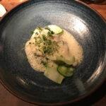 Sejrygg med broccoli, ostron och trattkantarell