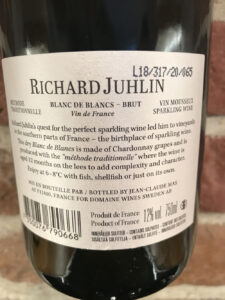Richard Juhlin Blanc de Blancs -back