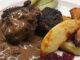Hjortfärsbiffar med trattkantarellsås -höstigt gott