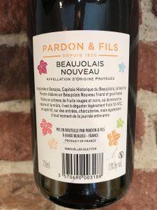 Beaujolais Nouveau 2020 -back