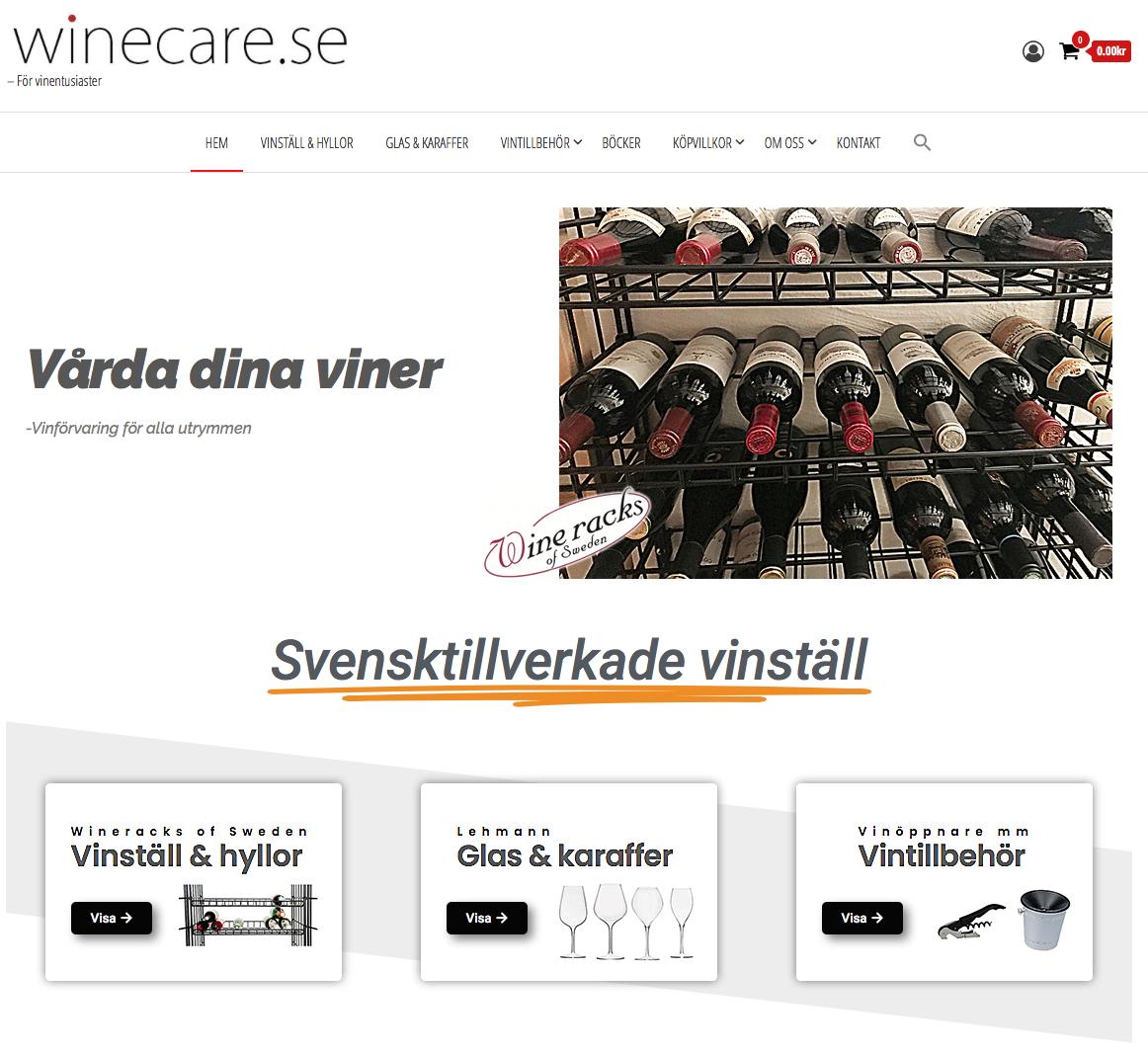 winecare.se -för vinentusiaster