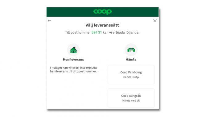 Coop -levererar inte