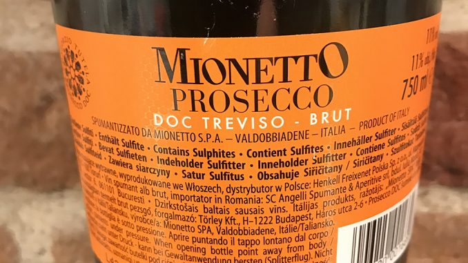 MionettoProsecco Brut -back