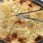 Öppen ostquesadilla -tortillapizza