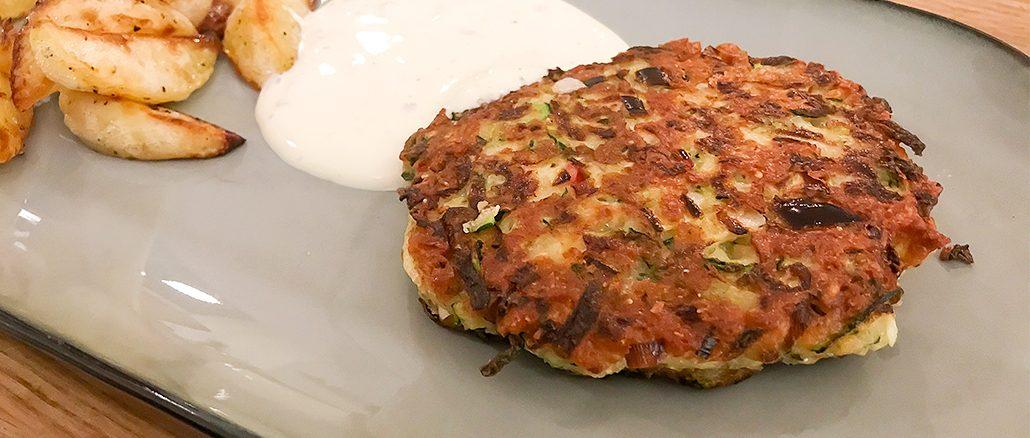 Zucchinibiffar med klyftpotatis -vegetarisk vardagslyx