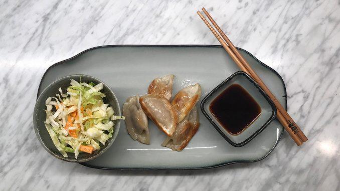 Japanska dumplings med kyckling och sojasås