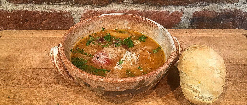 Italiensk bönsoppa -perfekt sjukmat i coronatider