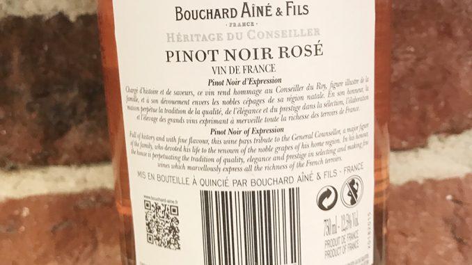 Bouchard Aîné & Fils Pinot Noir Rosé -back