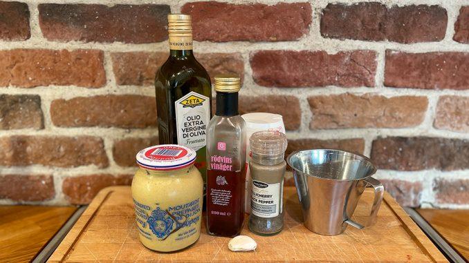 Nicoise-dressing, senapsdressing till sallader