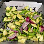 Grönsaker i grillkorgen