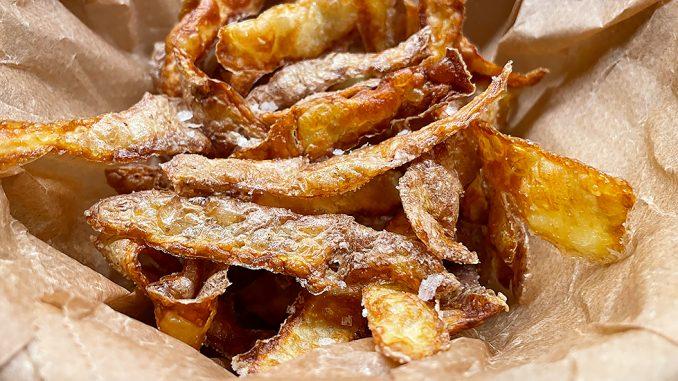 Fried Potato Peels -friterade potatisskal