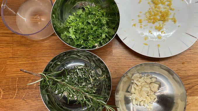 Rosmarinkyckling i citrolivsås -ingredienser