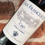 San Francesco Cirò -spännande vin från den italienska tån
